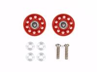 Lightweight 13mm Aluminum Ball-Race Rollers (Ringless/Red)