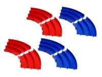 Japan Cup Junior Circuit Curve Section Set (Blue/Red, 4pcs. each)
