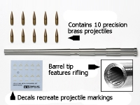 1/35 Scale U.S. M40 Metal Gun Barrel Set