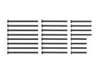 Stainless Steel Screw Set (15/20/25/30mm) (Black)