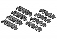 1/35 Scale German Panther Ausf.D Separate Track Link Set