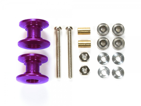 Lightweight Double Aluminum Rollers (13-12mm/Purple)
