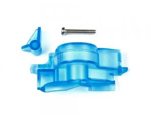 Super-II Easy Locking Gear Cover (Clear Blue) Mini 4WD Station