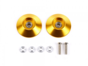 HG 19mm Tapered Aluminum Ball-Race Rollers (Ringless/Gold)