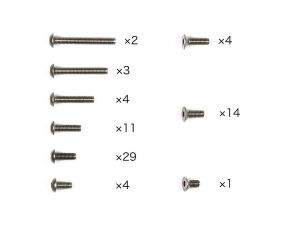 M-08 Concept Titanium Screw Set