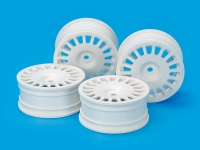 Medium-Narrow Rally Dish Wheels (24mm Width, Offset 0) (White) 4pcs.