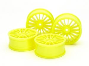 Medium-Narrow 18-Spoke Wheels (24mm Width, Offset 0) (Yellow) 4pcs.