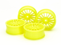 Medium-Narrow 18-Spoke Wheels (24mm Width, Offset 0) (Yellow) 4pcs.