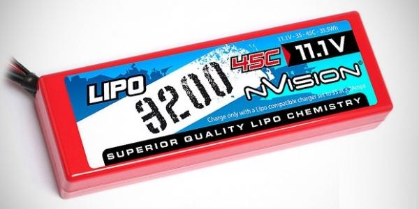 NVision 3S 3200mAh & 2500mAh LiPo packs