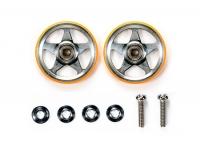 19mm Aluminum Rollers (5 Spokes) w/Plastic Rings (Orange)