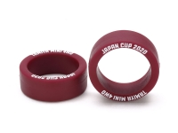 Low Friction Small Dia. Low Profile Tire (Maroon, 2pcs.) Japan Cup 2020