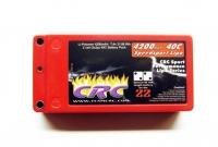 CRC Speedsport Shorty 4200mAh 2S LiPo battery