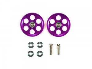 HG Lightweight 19mm Aluminum Ball-Race Rollers (Ringless/Purple)