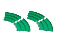 Japan Cup Junior Circuit Curve Section Set (Green, 4pcs.)