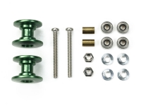 Lightweight Double Aluminum Rollers (13-12mm/Green)