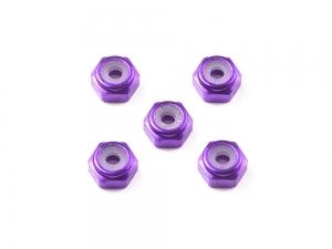 2mm Aluminum Lock Nut (Purple, 5pcs.)
