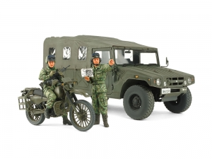 1/35 JGSDF Reconnaissance Motorcycle & High Mobility Vehicle Set