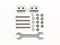 Short Mass Damper Block (8x8x14mm/2pcs.) (Silver)