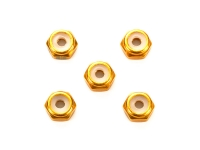 2mm Aluminum Lock Nut (Gold, 5pcs.)
