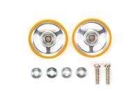 17mm Aluminum Rollers w/Plastic Rings (Orange)