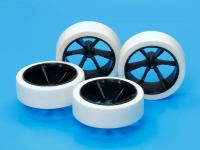 Hard Large Dia. Low-Profile Tires & Carbon 6-Spoke Wheels