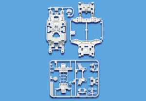 MS Reinforced Chassis Set (White)