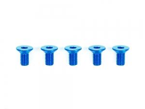 3x6mm Hi-Grade Aluminum Countersunk Hex Head Screws (Blue, 5pcs.)