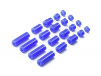 Lightweight Plastic Spacer Set (12/6.7/6/3/1.5mm) (Blue)