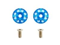 Aluminum Wing Washers (Blue)