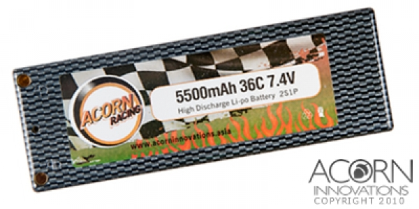AR5500RC – 5500mAh 36C 2S1P 7.4V Carbon Type Lipo Model